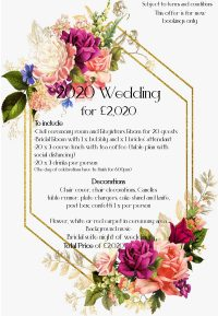 Book your 2020 Wedding for £2020