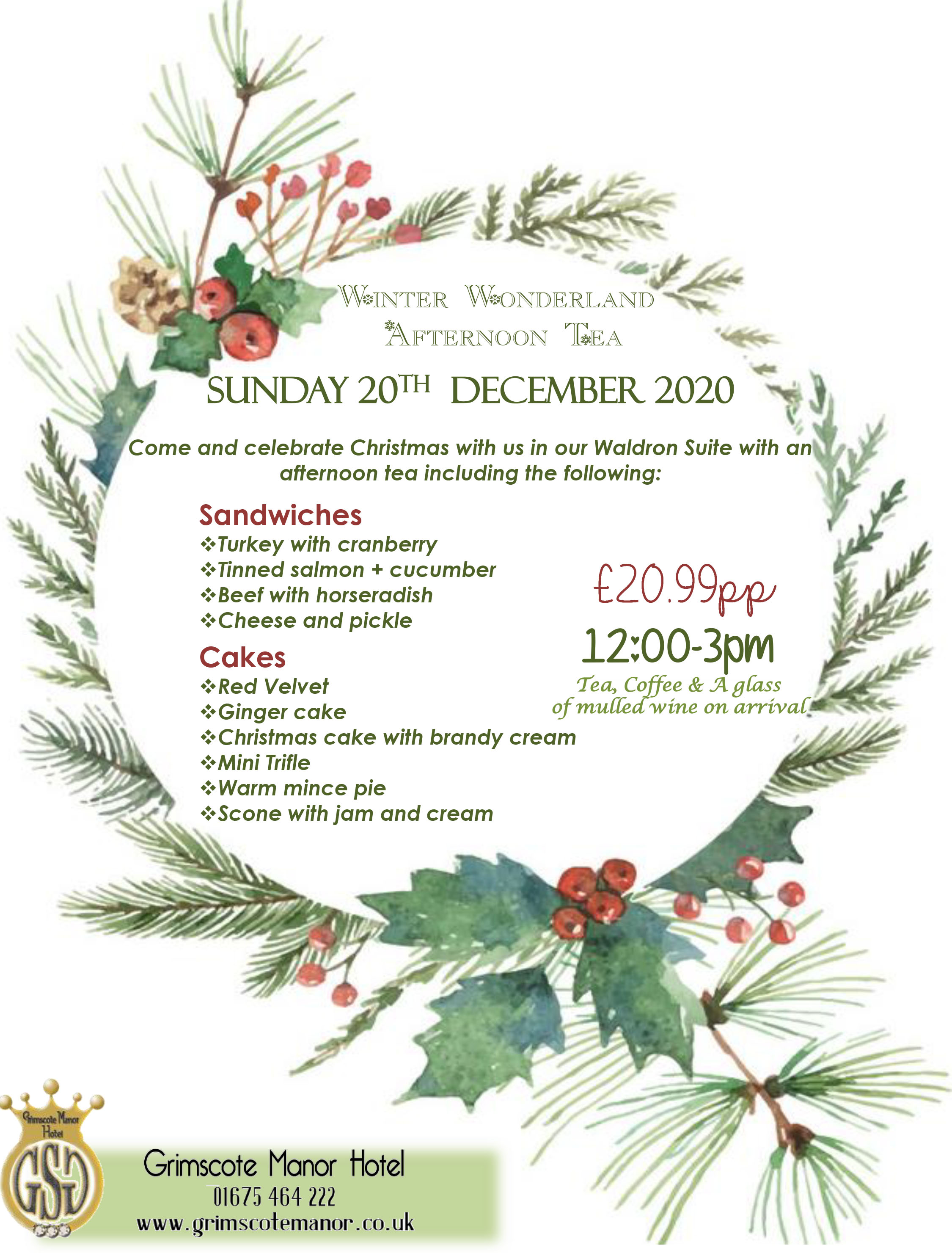 Winter Wonderland Afternoon Tea 2020